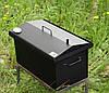 Коптильня Крышка Домиком 520х300х310 с термометром окрашенная