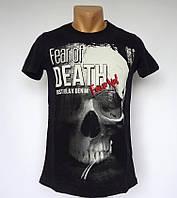 Черная футболка Fear of Death - №1443