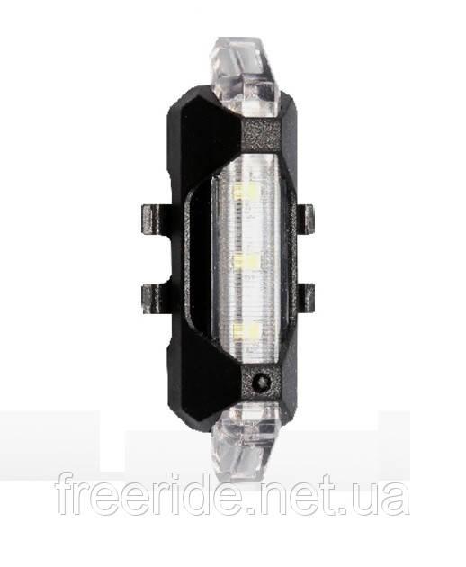 Велогабарит, мигалка RAPID-X 5LED диодов (зарядка от USB) 15 люмен Уни