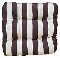 Подушка для стула 40*40, коричневая