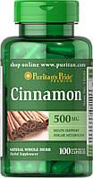 Корица Puritan's Pride Cinnamon 500 мг (100 капс)