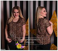 Блуза с леопардовым принтом Лейла