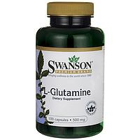 Л-Глютамин / L-Glutamine, 500 мг 100 капсул