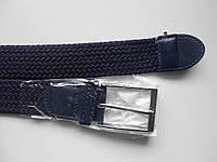 "Ремень унисекс с шпеньком тёмно-синий (резинка, плотная плетёнка, 35 мм.)  ""Remen"" LM-638"