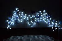 """Гирлянда штора 120 лампочек (120 цветков) """"Микс"""" электрическая"""