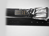 """Ремень мужской джинсовый с шпеньком чёрный (пластик, 40 мм.)  """"Remen"""" LM-638"""