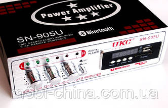 Усилитель (ресивер) UKC SN-905U c Bluetooth, MP3/SD/USB/AUX/FM 12v / 220v, фото 3