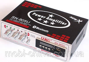 Усилитель (ресивер) UKC SN-905U c Bluetooth, MP3/SD/USB/AUX/FM 12v / 220v, фото 2