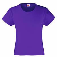 Фиолетовая футболка для девочек (Комфорт)