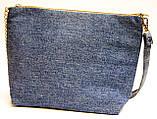 Сумочка клатч Запорожские мотивы на джинсе, фото 3