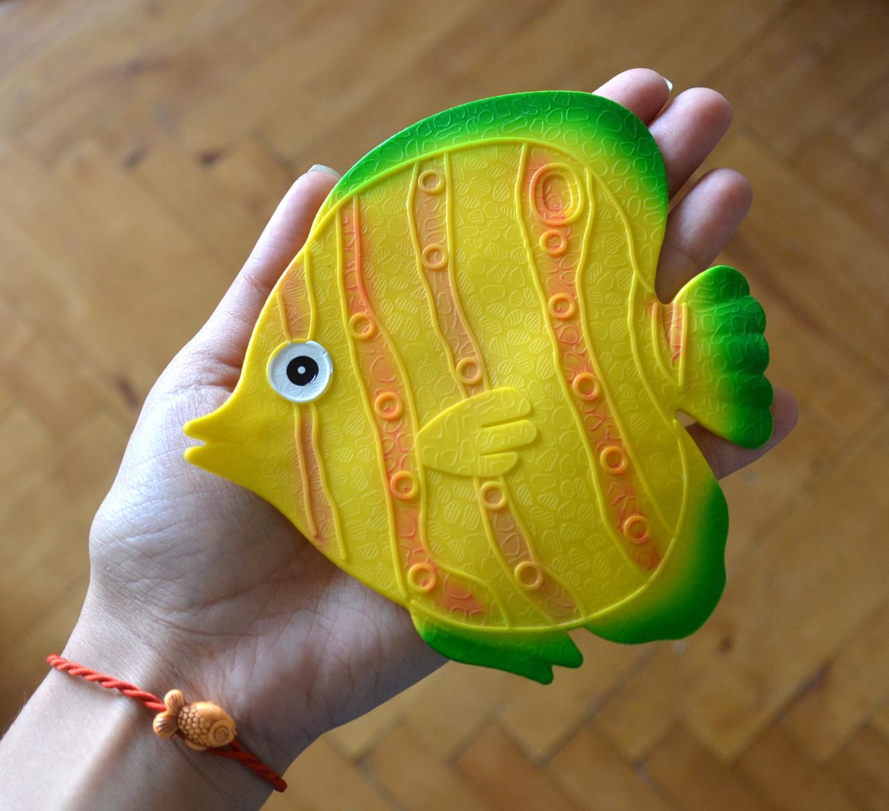 Рыбка желтая круглая. Мини-коврик