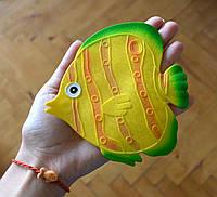Рыбка желтая круглая. Мини-коврик, фото 1