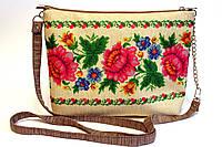 Сумочка клатч Запорожские мотивы на рогожке, фото 1