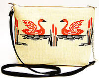 Сумочка клатч Лебеди, фото 1