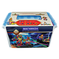 Магнитный 3Д конструктор Магникон 268 дет. (МК-268)