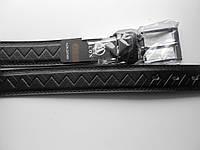"""Ремень мужской с шпеньком Батал чёрный (кож.зам. 35 мм.)  """"Remen"""" LM-638"""