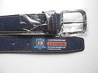 """Ремень мужской джинсовый с шпеньком тёмно-синий (кож.зам. 40 мм.)  """"Remen"""" LM-638"""