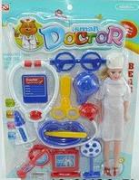 Игрушечный набор доктора с куклой