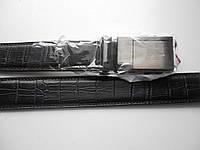"""Ремень мужской автомат-металл чёрный (кож.зам. 30 мм.)  """"Remen"""" LM-638"""