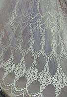 Тюль фатин вышивка шенилл, фото 1