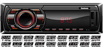 Автомагнитола FANTOM FP-322 Black/Red USB/SD ресивер