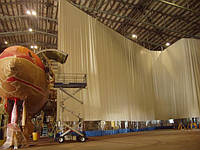 Тентові штори ангарів, гаражів, боксів,цехів , майстерень. від 150 грн за метр квадратний (без монтажу), фото 1