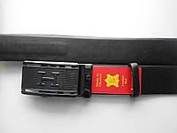 """Ремень мужской автомат чёрный (кожа, 35 мм.)  """"Remen"""" LM-638"""