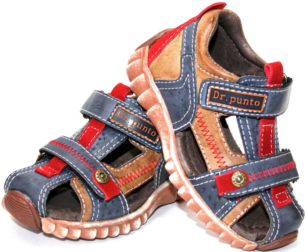 Детские босоножки для мальчика Dr. Punto Италия размеры 23-28