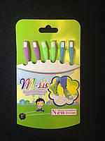 Шнурки силиконовые для обуви M-tie неоновые