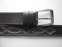 """Ремень мужской шпенёк тёмно-коричневый (кожа, 40 мм.)  """"Remen"""" LM-638"""