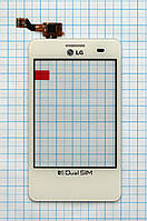 Тачскрин сенсорное стекло для LG E405 Optimus L3 Dual white