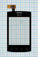 Тачскрин сенсорное стекло для LG E410 Optimus L1 II black