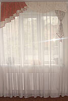 Жесткий ламбрекен Молочный 1,5м, фото 1