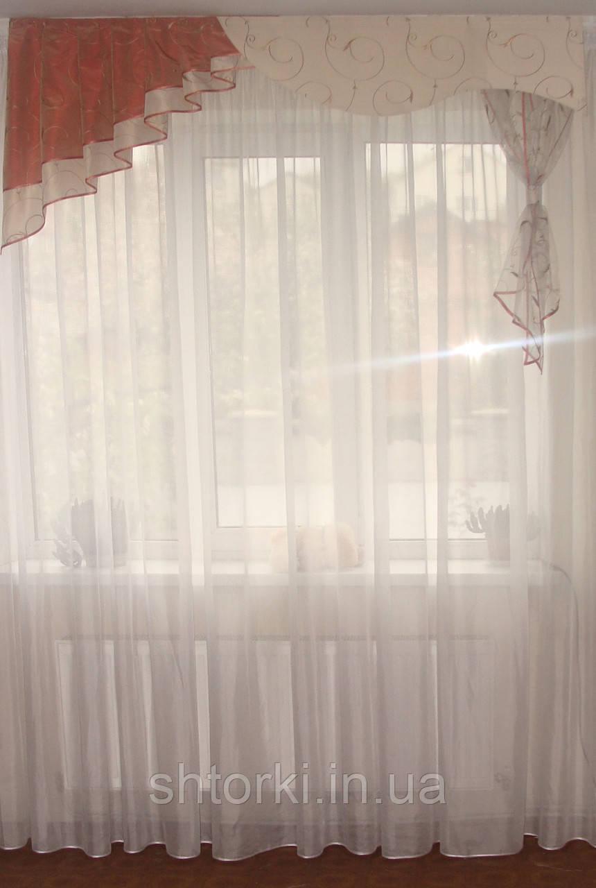 Жесткий ламбрекен Молочный 1,5м