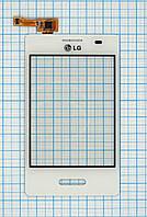 Тачскрин сенсорное стекло для LG E430 Optimus L3 II white original