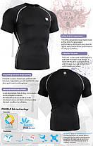 Компресійна футболка рашгард Fixgear CPS-BS чорна, фото 3