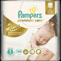 Подгузники детские PAMPERS Premium Care Newborn 1 (2-5 кг) Джамбо 88шт