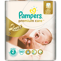 Подгузники детские PAMPERS Premium Care Mini 2 (3-6 кг) Джамбо 80шт