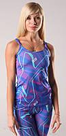 Женская тренировочная майка Fitness Queen  Berserk Sport синий