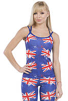 Эластичная женская майка Great Britain Berserk Sport синий