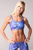 Спортивный женский топ Fitness Queen  Berserk Sport синий