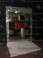 Зеркало с пескоструйным узором, фото 1