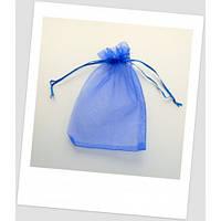 Мешочек из органзы 18 см х 13 см синий.