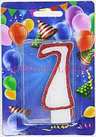 Тортовая свеча цифра Контур - 7 лет