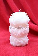 Декоративная резная свеча - Розы малая