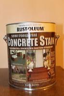 Пропитка по бетону, земляной коричневый, Concrete Stain, 3,79 litre, Rust Oleum