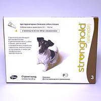 Капли Стронгхолд (Stronghold) для собак 5,1-10 кг от блох, клещей и глистов 1 пипетка 60 мг (0,5 мл)