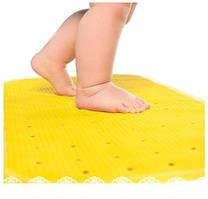 KINDERENOK Антискользящий коврик для ванны XL, желтый