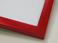 Рамка А4 (297х210).Рамка пластиковая 16 мм.Красный металик., фото 1