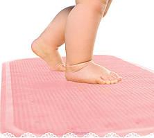 KINDERENOK Антискользящий коврик для ванны XL, розовый
